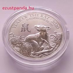 Patkány éve 2020 brit 1 uncia ezüst pénzérme