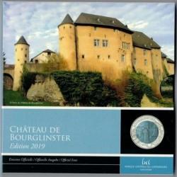 Burglinster vára 5 EUR luxemburgi 2019 ezüst-nióbium pénzérme
