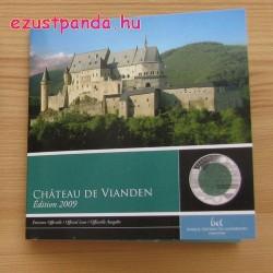 Vianden vára 2009 5 EUR luxemburgi ezüst-nióbium pénzérme