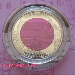 Clervaux vára 5 EUR luxemburgi 2016 ezüst-nióbium pénzérme