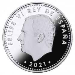 A Lepantói csata 450. évfordulója spanyol proof ezüst pénzérme