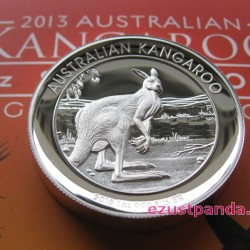 Kenguru 2013 1 uncia high relief ezüst pénzérme