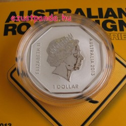 Kenguru útjelző tábla 2013 1 uncia ezüst pénzérme