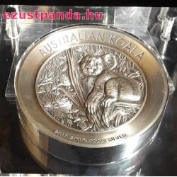 Koala 2018 2 kilogramm antikolt high-relief ezüst pénzérme