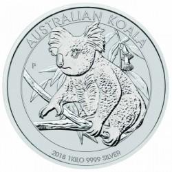 Koala 2018 1 kilogramm ezüst pénzérme