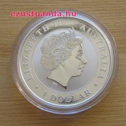 Kookaburra 2018 1 uncia ezüst pénzérme
