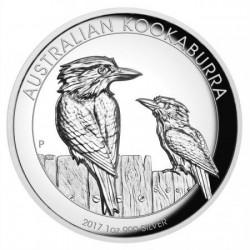 Kookaburra 2017 1 uncia high relief ezüst pénzérme