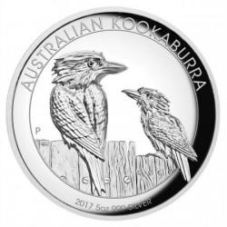 Kookaburra 2017 5 uncia high relief ezüst pénzérme
