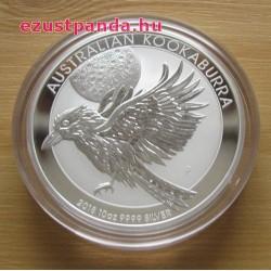 Kookaburra 2018 10 uncia ezüst pénzérme
