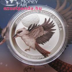 Kookaburra 2018 1 uncia színezett ezüst pénzérme