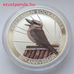 Kookaburra 2020 1 uncia színezett ezüst pénzérme - CSAK 1500 PÉLDÁNY!
