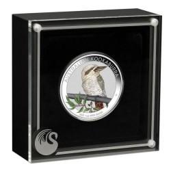 Kookaburra 2021 1 uncia színezett ezüst pénzérme - CSAK 1500 PÉLDÁNY!