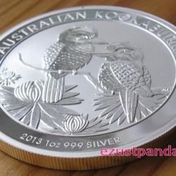 Kookaburra 2013 1 uncia ezüst pénzérme