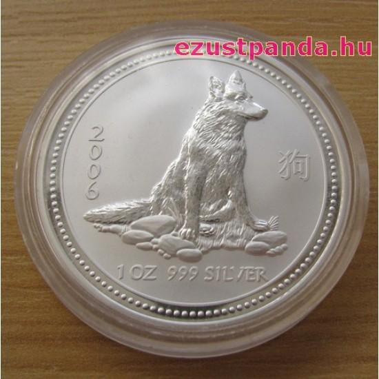 Lunar1 Kutya éve 2006 1 uncia ezüst pénzérme