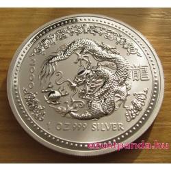 Lunar1 Sárkány éve 2000 1 uncia ezüst pénzérme