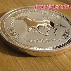 Lunar1 Ló éve 2002 1 uncia ezüst pénzérme