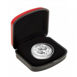 Lunar2 Kakas éve 2017 1 uncia high relief ezüst pénzérme