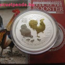 Lunar2 Kakas éve 2017 1 uncia aranyozott ezüst pénzérme