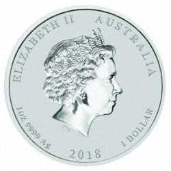 Lunar2 Kutya éve 2018 1 uncia ezüst pénzérme oroszlános verdejellel
