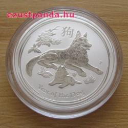 Lunar2 Kutya éve 2018 1/2 uncia ezüst pénzérme