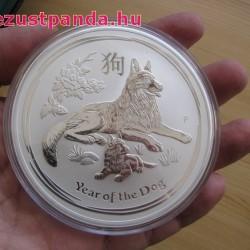 Lunar2 Kutya éve 2018 10 uncia ezüst pénzérme