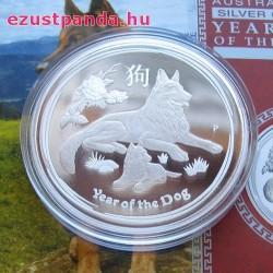 Lunar2 Kutya éve 2018 1 uncia proof ezüst pénzérme