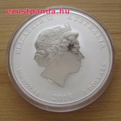 Lunar2 Kutya éve 2018 2 uncia ezüst pénzérme