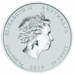 Lunar2 Disznó éve 2019 1/2 uncia ezüst pénzérme