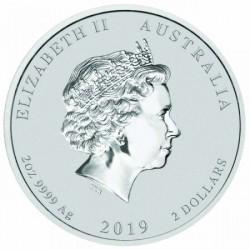 Lunar2 Disznó éve 2019 2 uncia ezüst pénzérme
