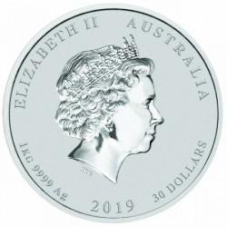 Lunar2 Disznó éve 2019 1 kilogramm ezüst pénzérme