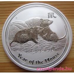 Lunar2 Egér éve 2008 1 uncia ezüst pénzérme