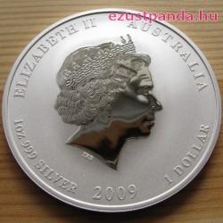 Lunar2 Bivaly éve 2009 1 uncia ezüst pénzérme
