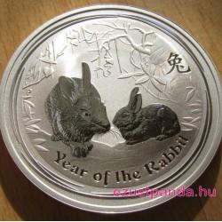 Lunar2 Nyúl éve 2011 1 uncia ezüst pénzérme