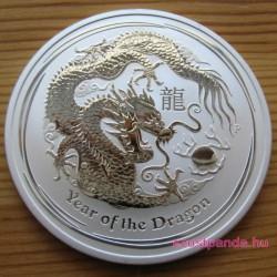 Lunar2 Sárkány éve 2012 1 uncia ezüst pénzérme