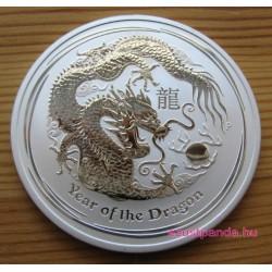 Lunar2 Sárkány éve 2012 2 uncia ezüst pénzérme