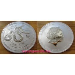 Lunar2 Kígyó éve 2013 1 uncia ezüst pénzérme