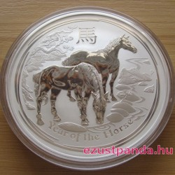 Lunar2 Ló éve 2014 10 uncia ezüst pénzérme