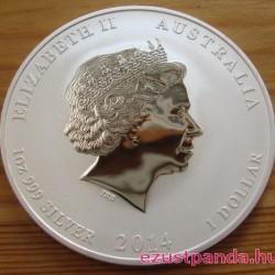 Lunar2 Ló éve 2014 1 uncia ezüst pénzérme