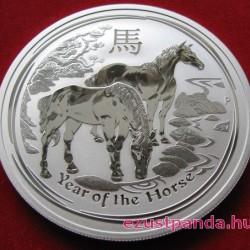 Lunar2 Ló éve 2014 2 uncia ezüst pénzérme