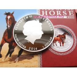 Lunar2 Ló éve 2014 1 uncia színes proof ezüst pénzérme