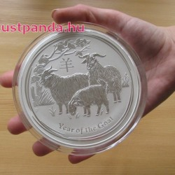 Lunar2 Kecske éve 2015 1 kilogramm ezüst pénzérme
