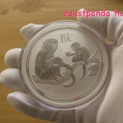 Lunar2 Majom éve 2016 10 uncia ezüst pénzérme