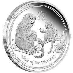 Lunar2 Majom éve 2016 1 kilogramm ezüst pénzérme