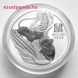 Lunar3 Egér éve 2020 1/2 uncia ezüst pénzérme