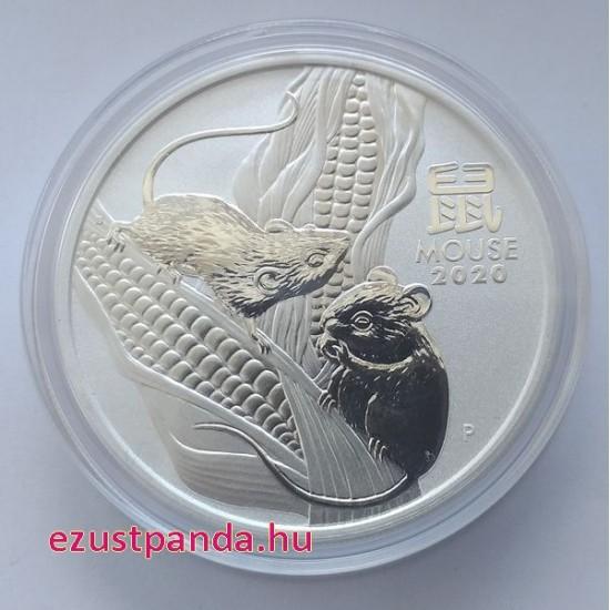 Lunar3 Egér éve 2020 1 uncia ezüst pénzérme