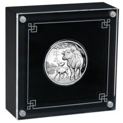Lunar3 Bivaly éve 2021 1 uncia high relief ezüst pénzérme