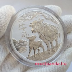 Lunar3 Bivaly éve 2021 5 uncia ezüst pénzérme