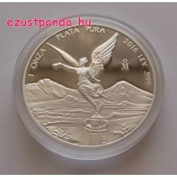 Libertad 2018 mexikói 1 uncia proof ezüst pénzérme