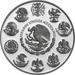 Libertad 2018 mexikói 2 uncia proof ezüst pénzérme