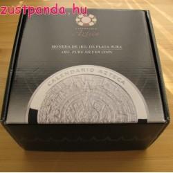 Azték naptár / Aztec Calendar 2016 1 kg proof ezüst pénzérme Mexikó